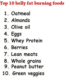 Top 10 belly fat burning foods 