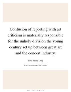 Confusion of reporting with art 