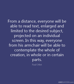 From a distance, everyone will be 