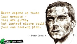 Never depend on those 