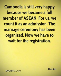 Cambodia is still very happy 