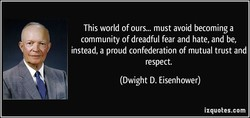 This world of ours... must avoid becoming a 