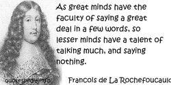 As great minds have the 