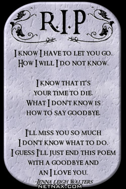 I HAVE TO LET YOU GO. 