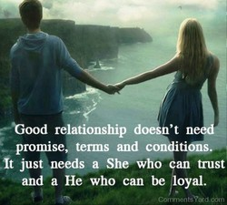 Good relationship doesn't ne 