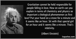 Gravitation cannot be held responsible for 