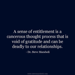 A sense of entitlement is a 