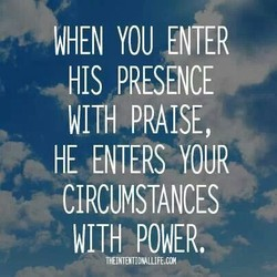 WHEN YOU ENTER 