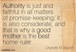 Authority is just and 