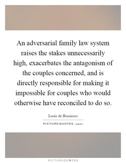 An adversarial family law system 