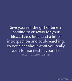 Give yourself the gift of time in 