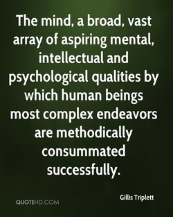 The mind, a broad, vast 