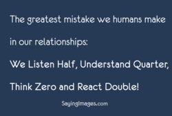 The greatest mistake we humans make 