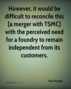 However, it would be 