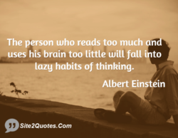The person who reads too much n 