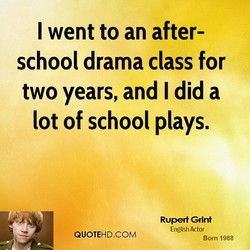 I went to an after- 