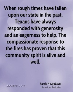 When rough times have fallen 