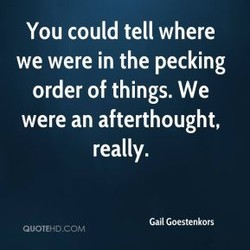 You could tell where 