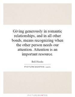 Giving generously in romantic 