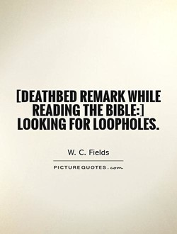 [DEATHBED REMARK WHILE 