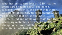 What has our culture lost in 1980 that the 