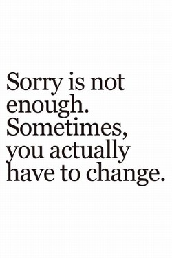 Sorry is not 