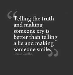 elling the truth 