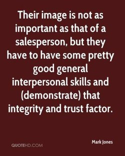 Their image is not as 