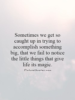 Sometimes we get so 