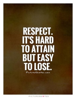 RESPECT. 