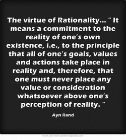 The virtue of Rationality...