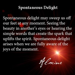 Spontaneous Delight 