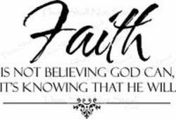 IS NOT BELIEVING GOD CAN, 