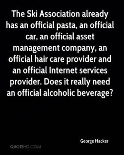 The Ski Association already 