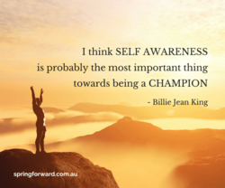 1 think SELF AWARENESS 