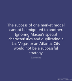 The success of one market model 