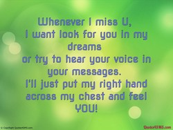 Whenever I miss U, 