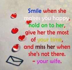 Smile when she 