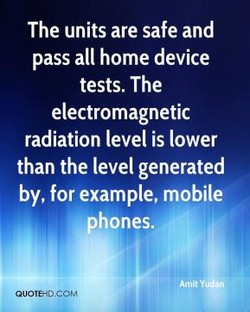The units are safe and 
