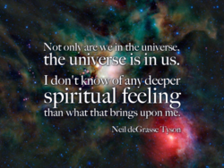Not only' are > en the universe 