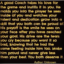 A good Coach takes his love for 