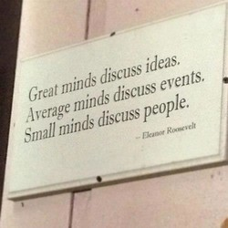 Greatm'nds discuss ideas, 