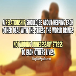 A RELATIONSHIP SHOULD BE ABOUT HELPING EACH 
