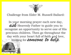 Challenge from Elder M. Russell Ballard: 