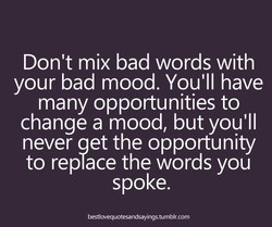 Don't mix bad words with 