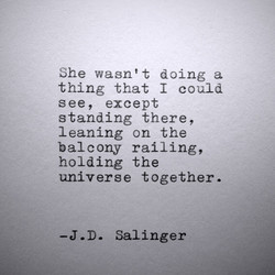 She wasn't doing a 