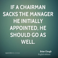 IF A CHAIRMAN 