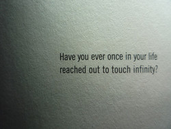 Have you ever once in your life 