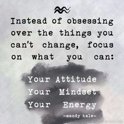 Instead of obsessing 