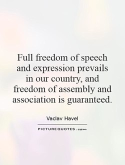 Full freedom of speech 